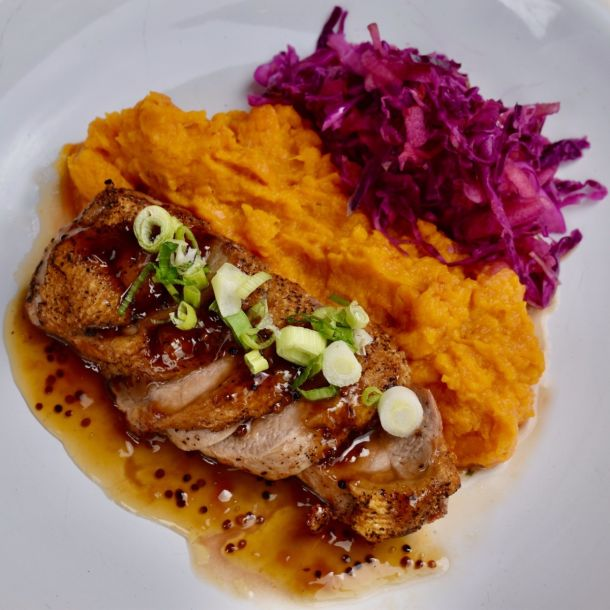 Maple and Bourbon Duck Breast