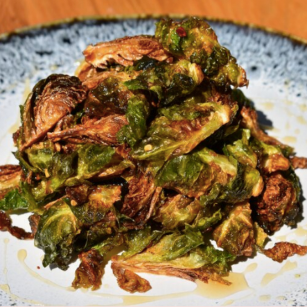 Honey Chili Fried Brussels Sprouts