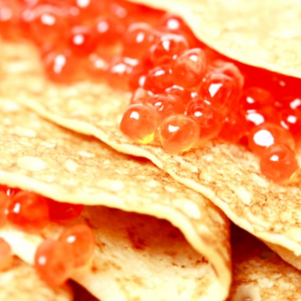 crepes red caviar