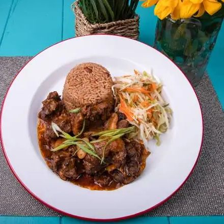 Braised Oxtail with Lima Beans