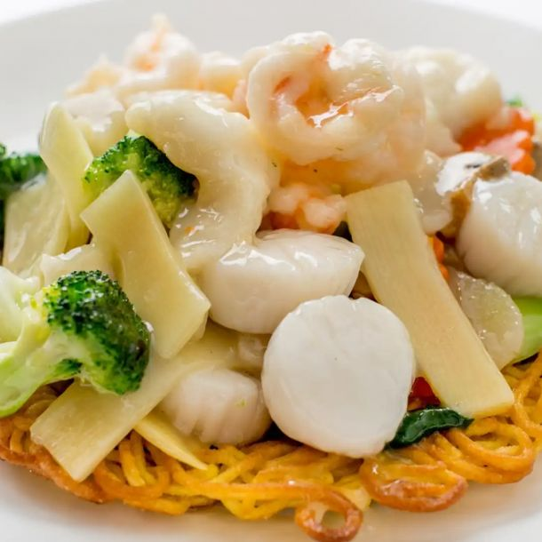 Young Chow Pan-Fried Noodles