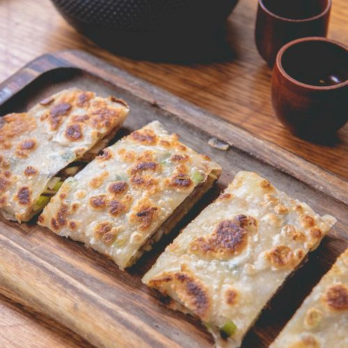 Scallion Pancake with Sliced Beef