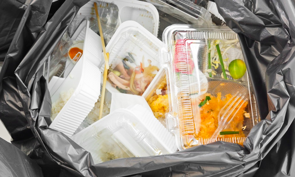 takeout container garbage